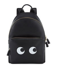 Eyes Mini Leather Backpack Black Anya Hindmarch