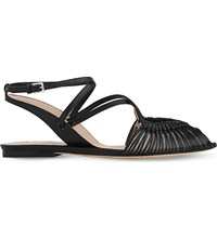 Lk Bennett Sara Strappy Leather Sandals Bla Black