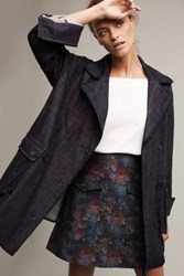 Anthropologie Lola Pea Coat Dark Denim