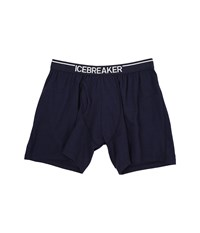 Icebreaker Anatomica Relaxed Boxers W Fly Admiral White Men's Underwear Gray