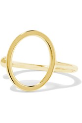 Sarah And Sebastian Open Oval 9 Karat Gold Ear Cuff