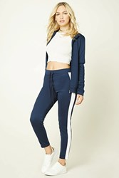 Forever 21 Contemporary Striped Pants Navy White
