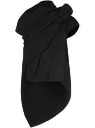 Rick Owens Draped High Low Top Black