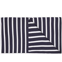 Armor Lux Striped Scarf Blue