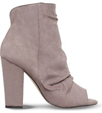 Miss Kg Sybil Faux Suede Ankle Boots Taupe