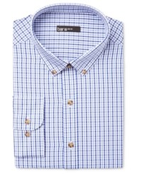 Bar Iii Men's Slim Fit Tattersall Dress Shirt Only At Macy's China Blue