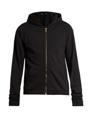 Haider Ackermann Perth Hooded Cotton Jersey Sweatshirt Black