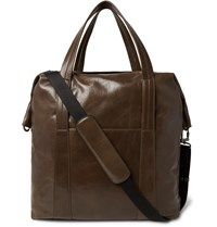 Maison Martin Margiela Grained Leather Holdall Brown