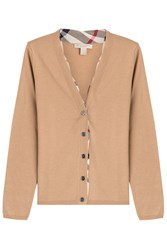 Burberry Brit Wool Cardigan Camel