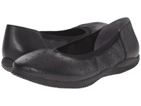 Softwalk Hampshire Black Veg Tumbled Leather Women's Flat Shoes
