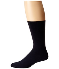 Wolford Cotton Velvet Socks Admiral Men's Crew Cut Socks Shoes Navy