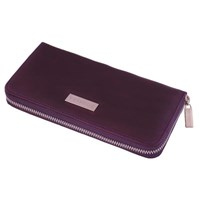 Estados Luxury Leather Ladies Zip Round Wallet Deep Purple And Pink