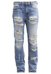 Diesel Rizzo Relaxed Fit Jeans 0846Y Destroyed Denim