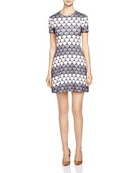 Markus Lupfer Star Striped Dress Navy Grey Pink