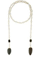Cathy Waterman Women's Akoya Pearl Beaded Wrap Necklace Colorless