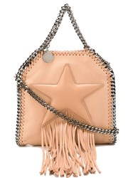 Stella Mccartney Small 'Falabella Fringed Star' Tote Pink And Purple