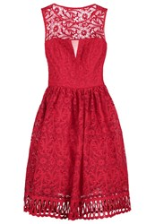 Chi Chi London Nuria Cocktail Dress Party Dress Red
