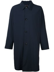 Paul Smith Single Breasted Coat Blue
