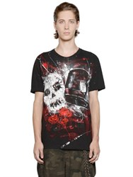 Faith Connexion Graffiti Skull Cotton Jersey T Shirt