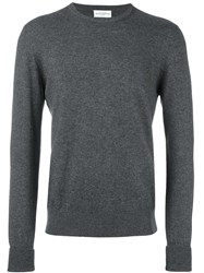 Ballantyne Crew Neck Jumper Grey