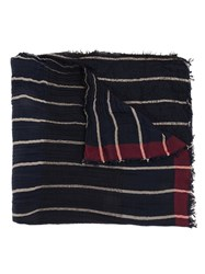 Uma Wang Striped Scarf Blue