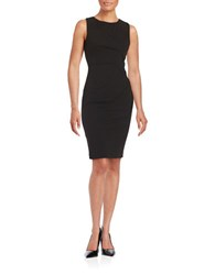 Calvin Klein Pleated Sheath Dress Black