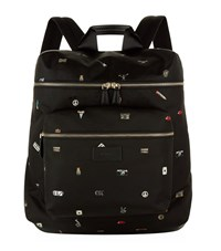 Paul Smith Charms Print Backpack Unisex Black