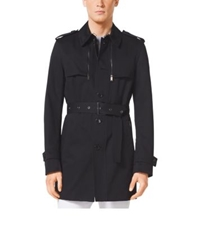 Michael Kors Cotton Twill Trench Coat Black