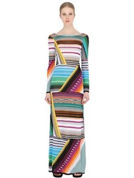 Missoni Striped Stretch Viscose Blend Knit Dress