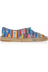Tabitha Simmons Dolly Silk Espadrille Flats Blue