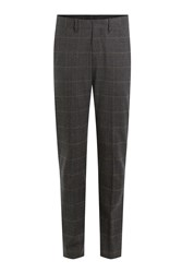 Neil Barrett Printed Virgin Wool Pants Grey