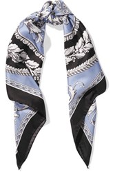 Versace Printed Silk Satin Scarf Multi
