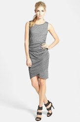 Women's Leith Ruched Body Con Tank Dress Grey Dark Charcoal Heather