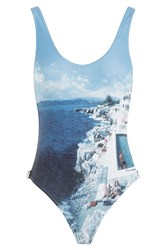 Orlebar Brown Roc Pool Photographic Signature Cutaway One Piece Multicolor