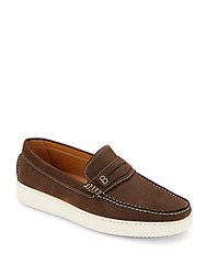 Saks Fifth Avenue Leather Penny Loafers Brown