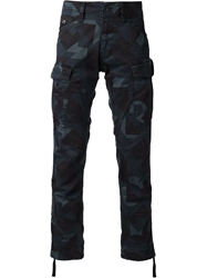 G Star G Star Camouflage Print Cargo Trousers Blue