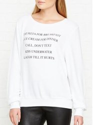 Wildfox Couture Day Off List Top White