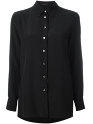 Agnona Plain Shirt Black