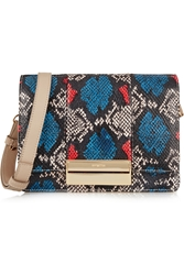 See By Chloe Kristen Small Python Print Leather Shoulder Bag