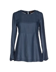 Alpha Studio Shirts Blouses Women Slate Blue