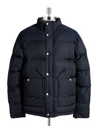 Fat Moose Stand Collar Puffer Coat Navy