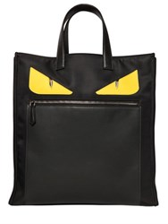 Fendi Monster Smooth Leather And Nylon Tote Bag