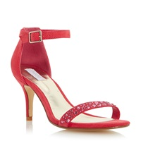 Untold Missouri Two Part Diamante Sandal Coral