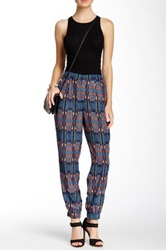 Lily White Print Pant Juniors Red
