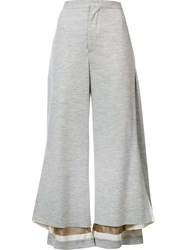Undercover Wide Leg Cropped Pants Grey
