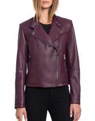 Bagatelle.City The Moto Naked Lamb Quilted Moto Jacket Chianti