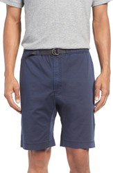 Surfside Supply Men's D Ring Belted Washed Chino Shorts Navy