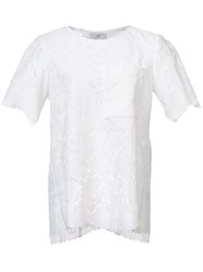 Tome Rose Lace T Shirt White