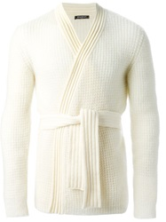 Balmain Belted Cardigan Nude And Neutrals