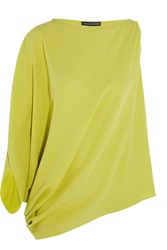 Maria Grachvogel Odyssey Draped Silk Crepe Top Green